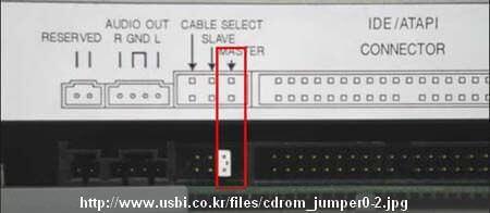 Solusi Harddisk Tidak Terdeteksi  - Setting Optical Drive Jumper