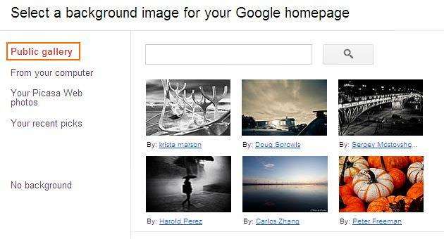 Cara Mengubah Tampilan Google - Public Gallery