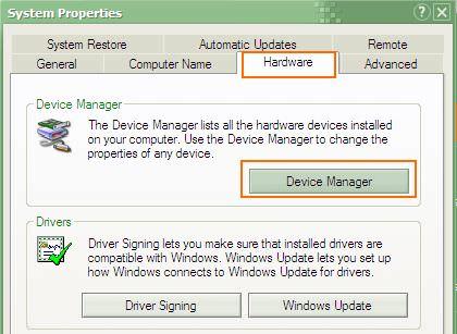 LAN/WLAN Card - Device Manager