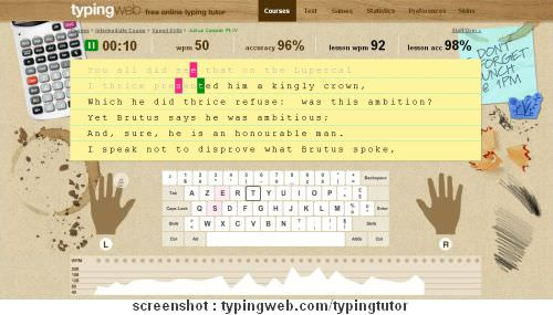 Cara Mengetik Cepat - Typing Tutor Fingering