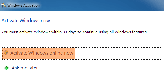 Activate Windows 7 Online Now