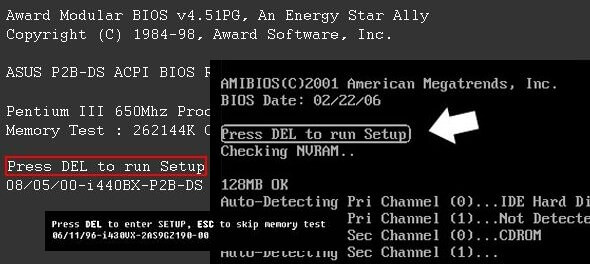 Cara Masuk Setting BIOS