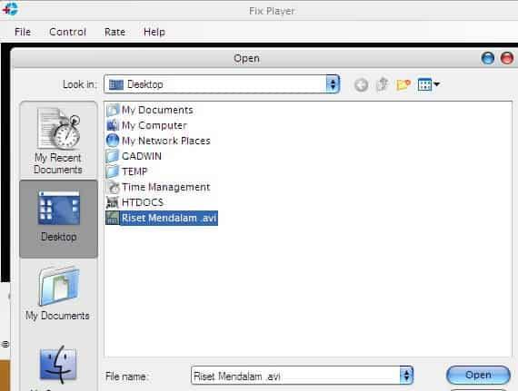 Cara Memperbaiki Video Rusak - Open File