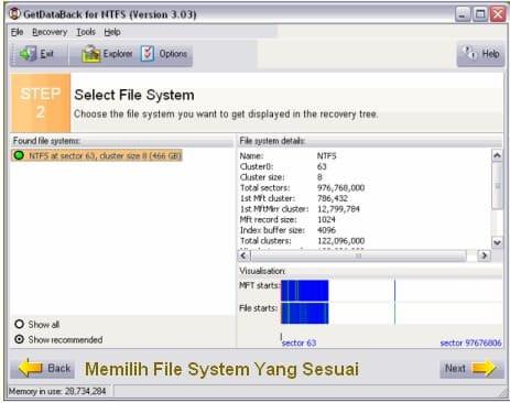 Cara Mengembalikan Data Hilang - File System