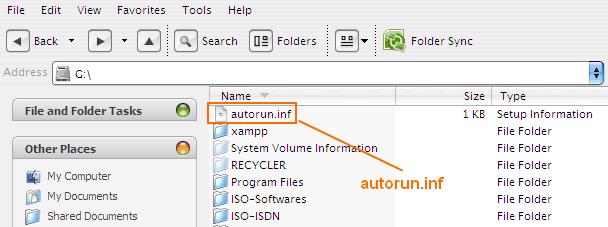 Cara Menghapus File Autorun.inf Otomatis