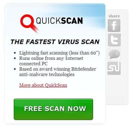 BitDefender QuickScan Online