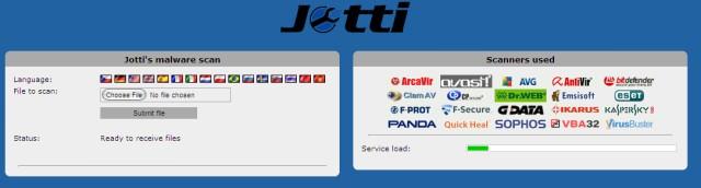 Jotti Online Virus Check