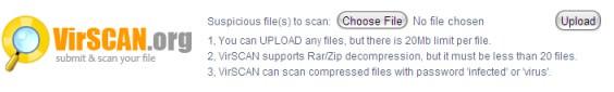 Scanning Virus Online dengan VirScan