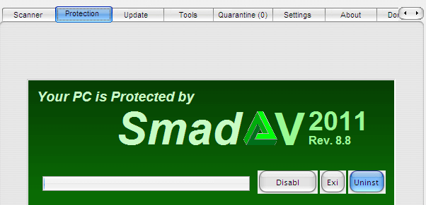 Cara Uninstall Smadav (Protection Tab)