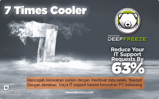 Deep Freeze 7 is times cooler, 63% more stable.