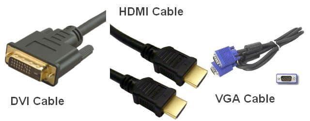 Kabel DVI - HDMI - VGA