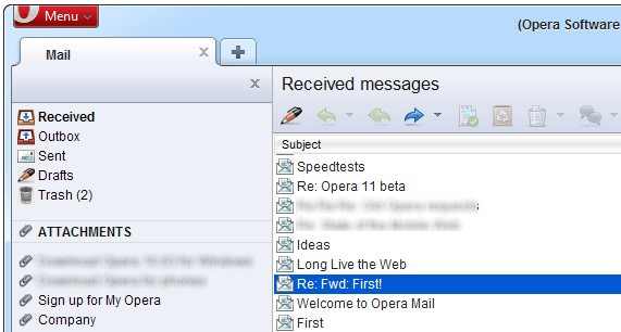 Email Client Operamail