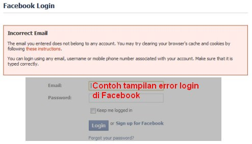 Error Login Facebook