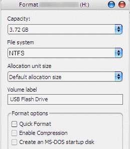 Format Flash Drive as NTFS