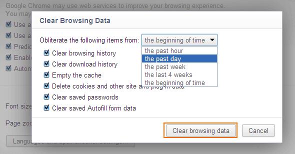 Membersihkan Data Browsing History