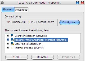 Mengaktifkan File Printer Sharing di LAN