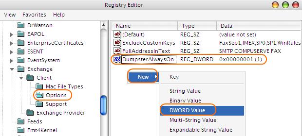 Mengembalikan Email Terhapus via Registry