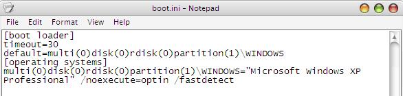Cara Menghapus Dual Boot Windows - Boot.ini Setting