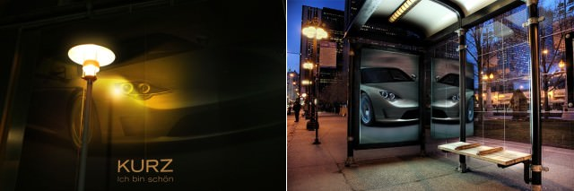 Photo505 - Night Light and Bus Stop