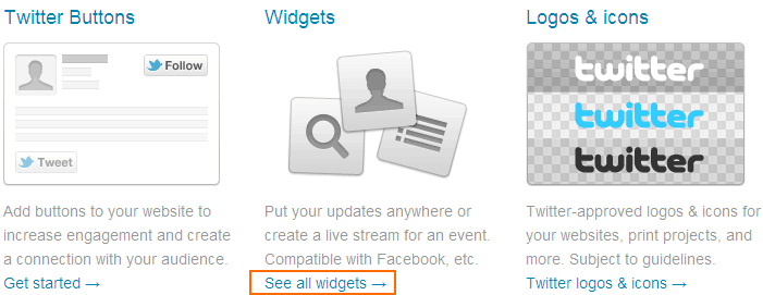 Pilih Widget Facebook