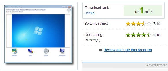 Starter Background Changer on Softpedia