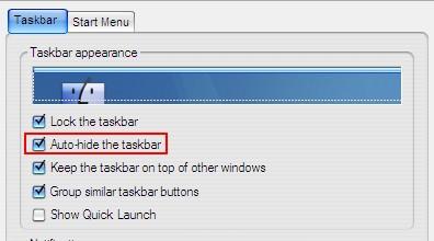 Taskbar Auto Hide