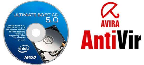 Mengatasi Virus File EXE : UBCD + Avira