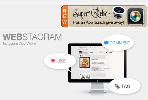 Webstagram Homepage
