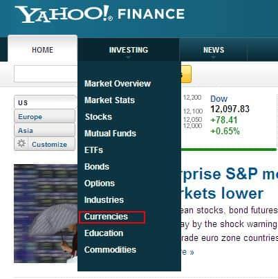 Konversi Mata Uang - Yahoo Currency Converter Home