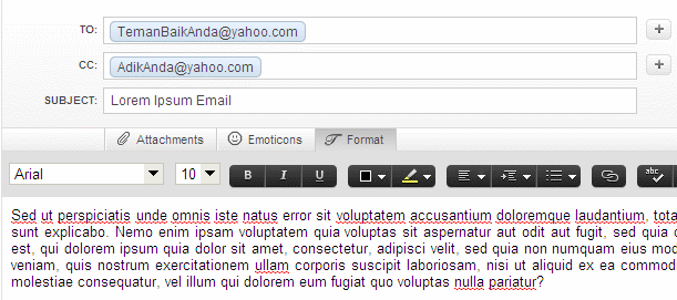 Yahoo Mail - Email Fields