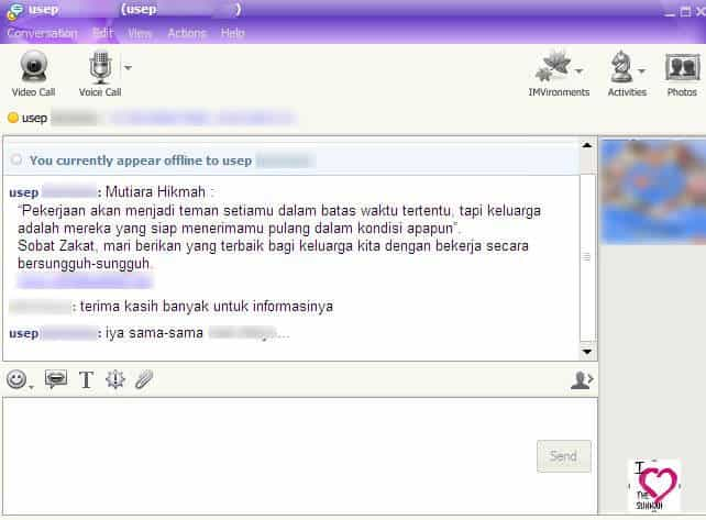 Yahoo Messenger Chat Scene